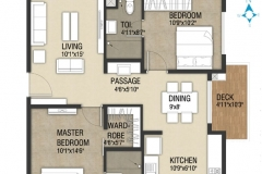 2 bhk-1216sft-Tower-A-West